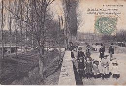 71-ST-BÉRAIN-S-DHEUNE- CANAL ET PONTS SUR LA DHEUNE-ANIMÉE - Francia