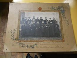 Photo Dames Françaises Croix Rouge .hopital AuxilliaireN°249.GUERRE 14/18.BEAUMONT S/OISE - War, Military