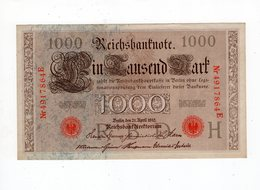 Allemagne - 1000 Mark - 21.04.1910 - H - [ 2] 1871-1918 : German Empire