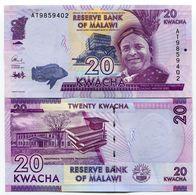 Malawi 20 Kwacha 2015 Uncirculated Banknote P63 Paper Money - Malawi
