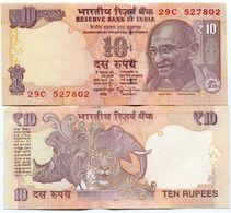 India 10 Rupees Mahatma Gandhi 2015 UNC P102 New Variation Money - India