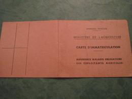 Carte D'Immatriculation - Assurance Maladie Obligatoire Des Exploitants Agricoles - Agriculture