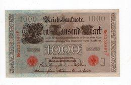Allemagne - 1000 Mark - 21.04.1910 - J - [ 2] 1871-1918 : German Empire