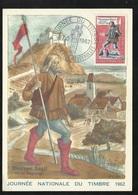 Carte Maximum Premier Jour Le Chambon Feugerolles Le 17/03/19622 N° 1332 Journée Du Timbre Messager Royal TB Soldé ! ! ! - Cartes-Maximum