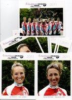 CYCLISME  TOUR  DE  FRANCE  EQUIPE FEMININE SPECIALIZED 201111 CARTES SERIE COMPLETE - Ciclismo