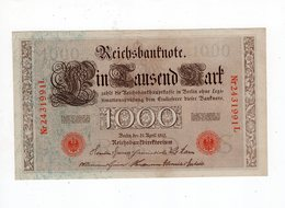 Allemagne - 1000 Mark - 21.04.1910 - S - [ 2] 1871-1918 : German Empire