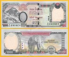 Nepal 1000 Rupees P-75a 2013 UNC Banknote - Népal