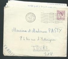 Lac De Grande Bretagne Affranchie Pour La France Oblitéré Tonbridge Juillet 1963  -  Raa1302 - Postmark Collection