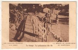 Inde - La Mission Du Sacré-Coeur Au Rajputana - Le Tissage - La Préparation Des Fils - 1935 - Missions
