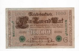 Allemagne - 1000 Mark - 21.04.1910 - G - [ 2] 1871-1918 : Empire Allemand