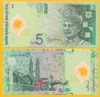 Malaysia 5 Ringgit P-47(1) 2004 UNC Polymer Banknote - Malaysia