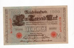 Allemagne - 1000 Mark - 21.04.1910 - G - [ 2] 1871-1918 : Impero Tedesco