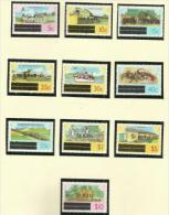 St Kitts - 1980 Local Views Overprints (with Watermark) P/set Of 10 MNH **  SG 29-30, 32-5 & 38-41 Sc 25-6, 28-31 & 34-7 - St.Kitts And Nevis ( 1983-...)