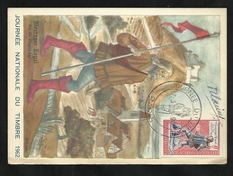Carte Maximum Premier Jour Paris Signée Le 17/03/19622 N° 1332 Journée Du Timbre Messager Royal TB Soldé ! ! ! - Cartes-Maximum