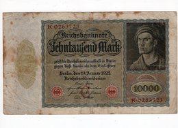 Allemagne - 10000 Mark - 19.01.1922 - [ 3] 1918-1933: Weimarrepubliek