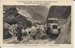 Expédition Citroën-Asie-Troisième Mission G-M HAARDT-Voitures De Mission Dans La Passe De Tocksoun(Turkestan Chinois) - Missions
