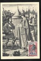 Carte Maximum Premier Jour Alger  Rare Le 17/03/1962 N° 1332 Journée Du Timbre Messager Royal TB Soldé ! ! ! - Lettres & Documents