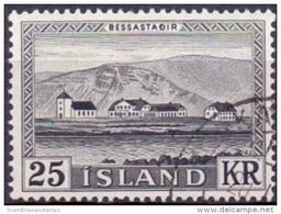 IJsland 1957 25kr Palijs Van De President GB-USED. - 1944-... Republik