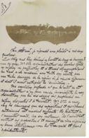 LAOS -2 Cartes Photos   - écrites En 1906 Par Le Chef Du Bureau Militaire De La Garde Indigène- Texte Document - Laos