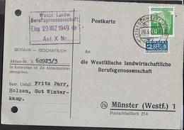 GERMANY - BIZONE - ANNULLO DC  (21B) SCHWERTE (RUHR) 28.03.1949 - CARTOLINA POSTALE PRIVATA - Bizone