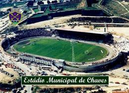 Portugal Chaves Stadium New Postcard - Football