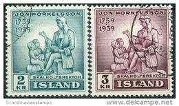 IJsland 1959 Jon Porkelsson Serie GB-USED. - 1944-... Republik