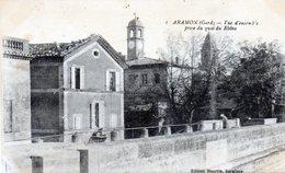 205-3769 -  30 - ARAMON - Vue D'ensemble Prise Du Quai Du Rhône - Aramon