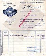 87 -  LA CROISILLE SUR BRIANCE -FACTURE- M. PENICAUD MAISON SAGE BRIVE-FABRIQUE CONSERVES 1934-VIALANEIX BORT LES ORGUES - Sin Clasificación