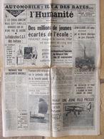 Journal L'Humanité (9 Sept 1964) Automobile - Ecole - Sécurité Sociale - J Gréco - 1950 - Today