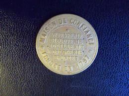 """Ancienne Médaille Publicitaire """"A La Gerbe D'or 86 Rue De Rivoli Paris"""" Orfévrerie Bijouterie Joailleries Bronzes 1797 - Profesionales / De Sociedad"""