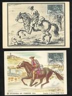 2 Cartes Maximum Premier Jour Vienne 14/03/1964 N°1406 Journée Du Timbre Courrier à Cheval XVIII ème  TB Soldé ! ! ! - Cartes-Maximum