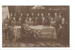 21663 - Aus Grofser Zeit Réunion De Chefs Miltaires Allemands - Militaria