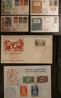 Tunise - 6 Enveloppes Premier Jour - Années 1950 - Timbres