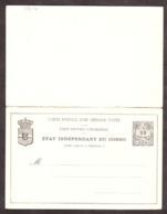 Congo - Carte Postale Entier Postal Avec Réponse Payée - 15 Centimes - Neuf - Stamped Stationery