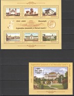 L220 2006 ROMANIA ARCHITECTURE NATIONAL EXHIBITION CAROL I !! GOLD 1KB+1BL MNH - Autres