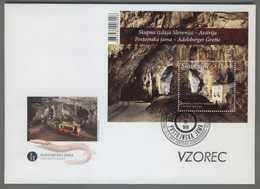 C4483 SLOVENIA FDC 2013 POSTOJNSKA JAMA ADELSBERGER GROTTE 0.64 Foglietto - Slovenia