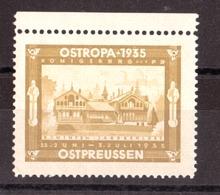 Vignette Ostropa 1935 - Neuf (*) - Expositions Philatéliques
