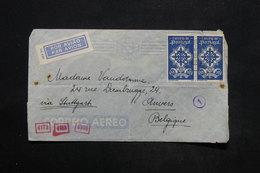 PORTUGAL - Enveloppe De Lisbonne Pour La Belgique En 1941 Avec Contrôle Postal Allemand - L 25262 - 1910-... République