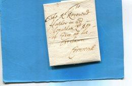 Grande Bretagne-OLD LETTER -1704-cachet De Cire Au Dos-document Entier Présenté  En Son Pliage D'origine Et Ouverte - Postmark Collection