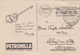 CARTOLINA POSTALE - MILANO - PETRONILLA CASA EDITRICE SONZOGNO - VIAGGIATA PER ALME' CON VILLA ( BERGAMO) - 1900-44 Vittorio Emanuele III