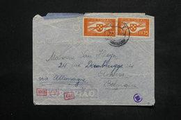 PORTUGAL - Enveloppe De Lisbonne Pour La Belgique En 1941 Avec Contrôle Postal Allemand - L 25263 - 1910-... République