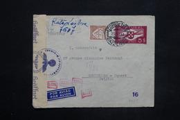 PORTUGAL - Enveloppe De Lisbonne Pour La Belgique En 1943 Avec Contrôle Postal Allemand - L 25265 - 1910-... République