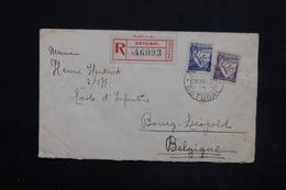 PORTUGAL - Enveloppe En Recommandé De Setubal Pour La Belgique En 1939 , Affranchissement Plaisant - L 25266 - 1910-... République