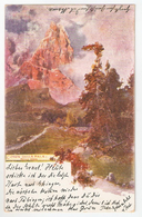1902 CIMON DELLA PALA Rolle Pass. Artist Signed Postcard Ansichtskarte Addressed To Ernst Riecker, Ehingen. - Trento
