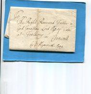 Grande Bretagne-OLD LETTER -1706+-cachet De Cire Au Dos-document Entier Présenté  En Son Pliage D'origine Et Ouverte - Postmark Collection