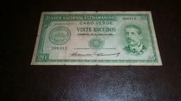 CAPE VERDE 20 ESCUDOS 1958 - Cabo Verde