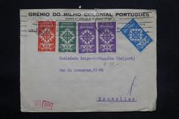 PORTUGAL - Enveloppe Commerciale De Lisbonne Pour La Belgique En 1940 Avec Contrôle, Affranchissement Plaisant - L 25267 - 1910-... République