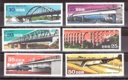Ponts - 1976 - Allemagne DDR - N° 1839 à 1844 - Neufs ** - Ponts