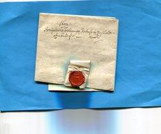 Grande Bretagne-OLD LETTER -1692+-cachet De Cire Au Dos-document Entier Présenté  En Son Pliage D'origine Et Ouverte - Postmark Collection