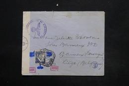 PORTUGAL - Enveloppe Pour La Belgique En 1942 Avec Contrôle, Affranchissement Plaisant - L 25269 - 1910-... République
